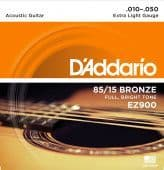 10-50 D'Addario EZ900 85/15 Bronze Extra Light Gauge