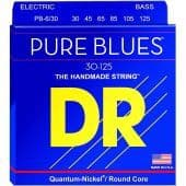 30-125 DR PB6-30 Pure Blues Quantum-Nickel / Round Core 6-String