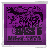 50-135 Ernie Ball 2821 Roundwound Power Slinky 5-string