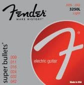 09-42 Fender 3250L Super Bullets Nickel-Plated Steel Light