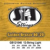 10-46 S.I.T. GB121046 Golden Bronze 80/20 12 String