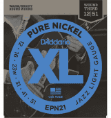 12-51 D'Addario EPN21 Pure Nickel Jazz Light Gauge Wound Third