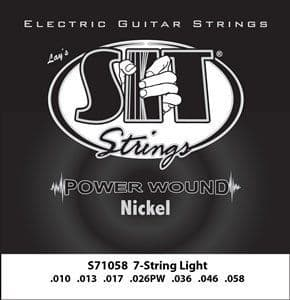10-58 S.I.T. S71058 Power Wound Nickel 7-String Light