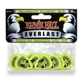 0.88 mm Ernie Ball P09191 Everlast Wear-Resistant Fluorescent Delrin Guitar Picks Green 12 pcs