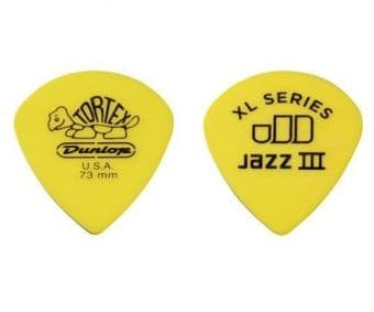 0.73 mm Dunlop Tortex Jazz III XL Yellow
