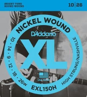 10-26 D'Addario EXL150H Nickel Wound High Strung/Nashville