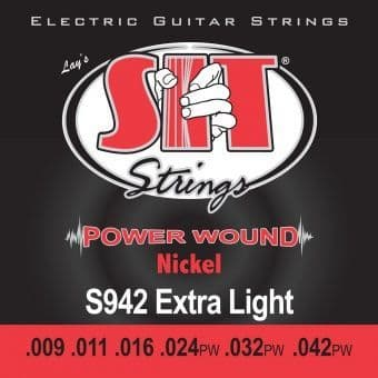 09-42 S.I.T. S942 Power Wound Nickel Extra Light