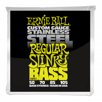50-105 Ernie Ball 2842 Stainless Steel Regular Slinky