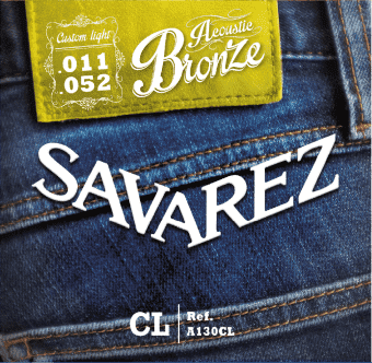 11-52 Savarez A130CL Acoustic Bronze Custom Light