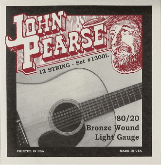 10-47 John Pearse 1300L 80/20 Bronze Wound 12 String Light
