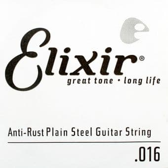 16 Elixir 13016 Anti-Rust Plain Steel String