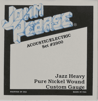 13-56 John Pearse 2900 Nickel Wound Jazz Heavy Custom