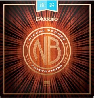 10-47 D'Addario NB1047-12 Nickel Bronze Light Gauge 12-String