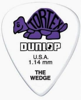 1.14 mm Dunlop Tortex Wedge Purple