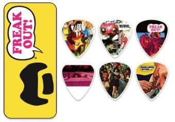 0.73 mm Dunlop ZAPPT01M Frank Zappa Yellow Tin 6 pcs