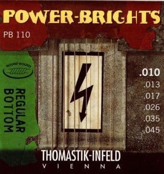 10-45 Thomastik-Infeld PB110 Power-Brights Round Wound Regular Bottom
