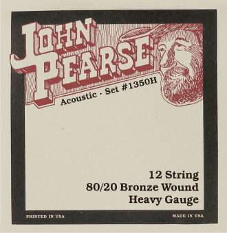 13-56 John Pearse 1350H 80/20 Bronze Wound 12 String Heavy C# Tuning
