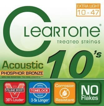 10-47 Cleartone 7410 Phosphor Bronze Extra Light